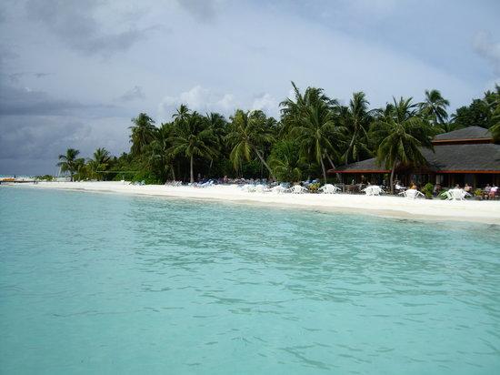 Meeru Island Resort & Spa: arrivée sur l'île- hotel