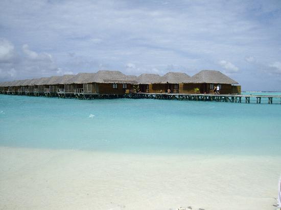 Meeru Island Resort & Spa : les pilotis