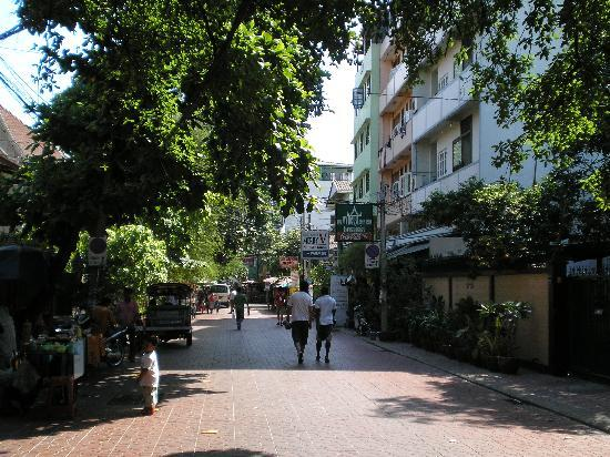 New Siam Guest House II: down the street from the hotel