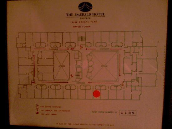 The Emerald Hotel: floor plan main block