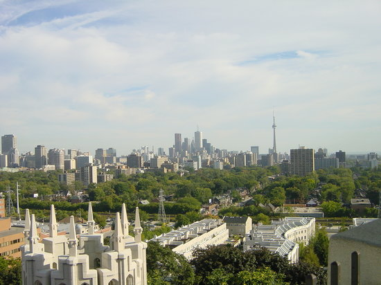 Toronto, Canada: Panoramic view from Casa Loma