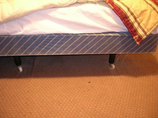 Manor Court Hotel : Le lit: une planche de bois sous des ressorts