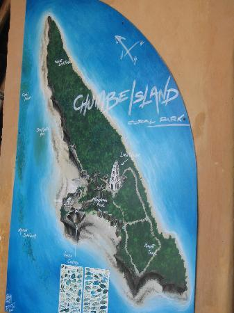 Chumbe Island Coral Park: the island... 1 km by 100 to 250 m... and most of it is not accessible...
