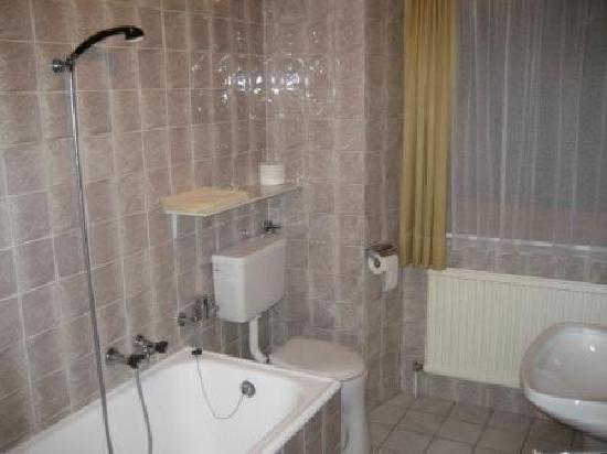 Goldener Loewe: Bad/Dusche ohne Spritzschutz