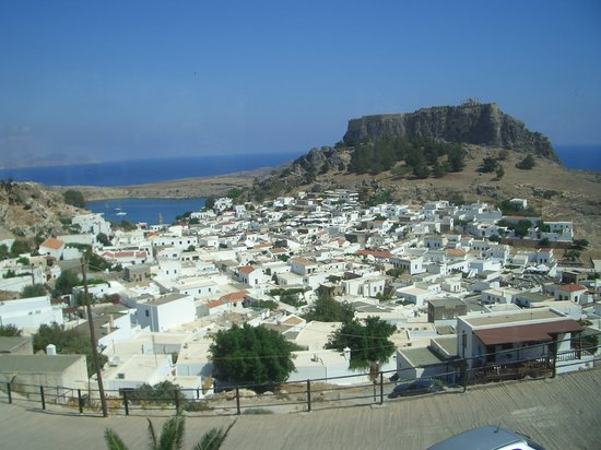 Lindos from the top road