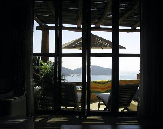 Hotel Cinco Sentidos: Room #3 from inside looking out