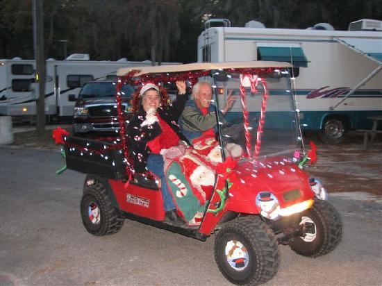 One of the many Golf Carts in The Xmas Parade - Picture of Spirit of Xmas Golf Carts Html on