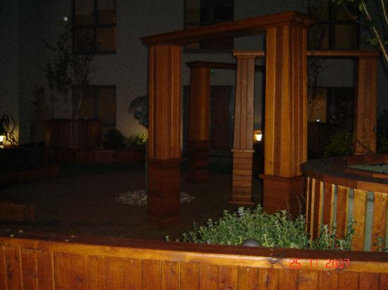 Westport Plaza Hotel : Courtyard Garden outside our room