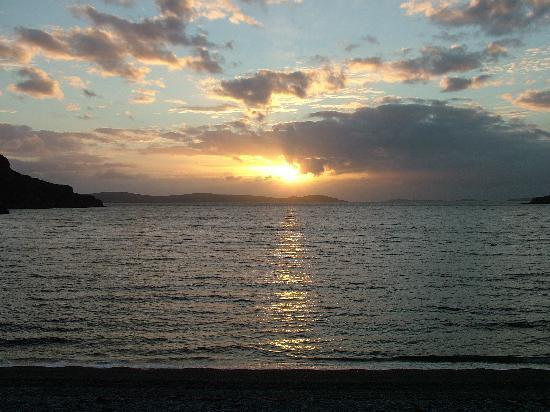 Ardanair Cottage: ardmair bay sunset