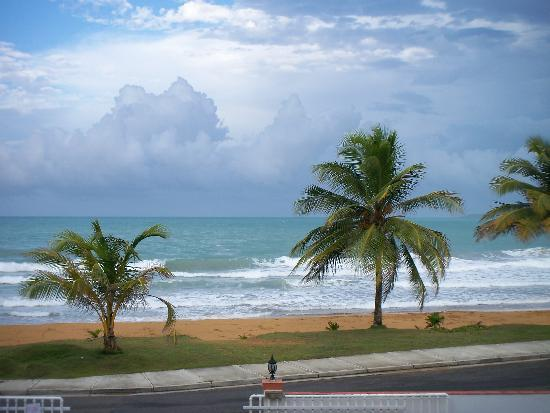 view from the room picture of luquillo sunrise beach inn. Black Bedroom Furniture Sets. Home Design Ideas