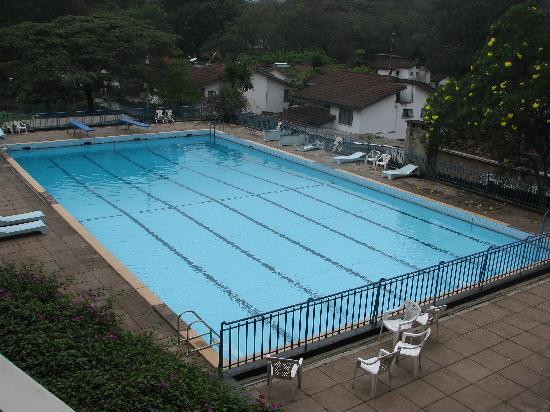 Methodist Guest House: View of the pool from our balcony.