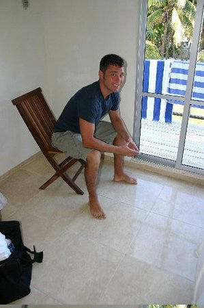 Cabanas Maria Del Mar: My hubby-in our room