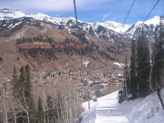 The Hotel Telluride: View going up the gondola