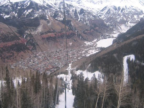 The Hotel Telluride: Another view up the gondola (town)