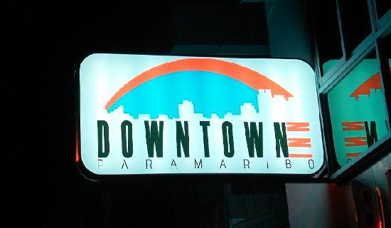 Downtown Inn: sign