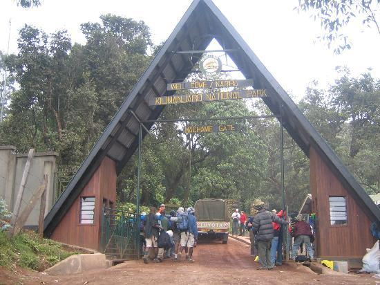 Arusha, Tanzania: Machame Gate... That's it.. no turnaround...