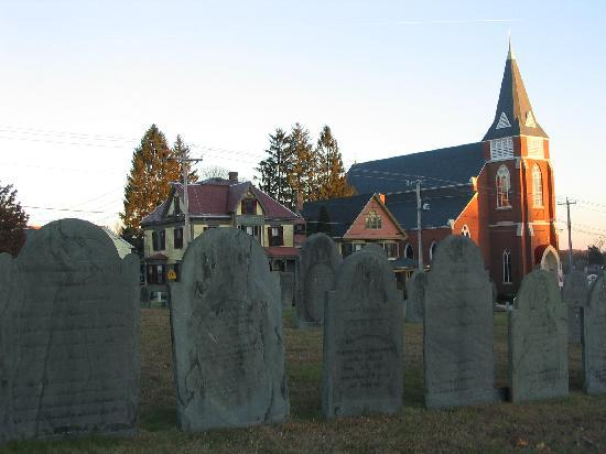 Marlborough, MA: view from the old, central cemetery