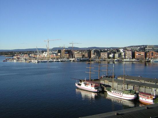 Oslo, Norwegia: Città vista dal castello