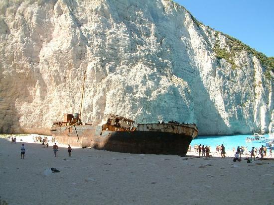 Rock - Picture of Navagio Beach (Shipwreck Beach ...