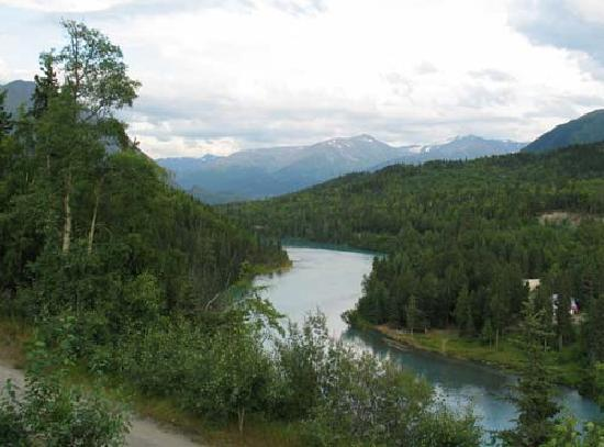 Drifter's Lodge: Kenai River near Drifter's