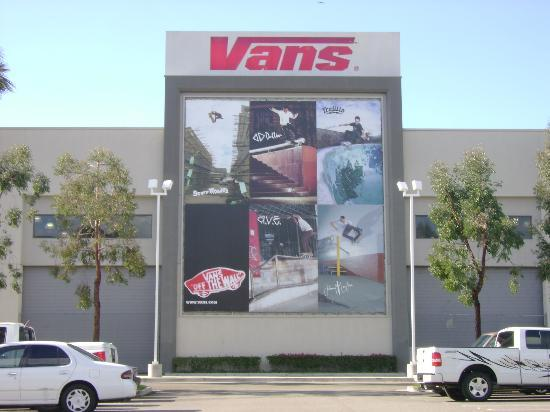 Orange, CA: Vans Skatepark - from the parking lot