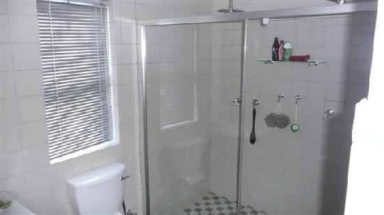 Kruger House Guest Cottages: Double shower!