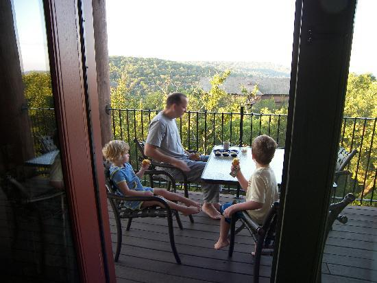 The Wilderness Club at Big Cedar: The view off the balcony