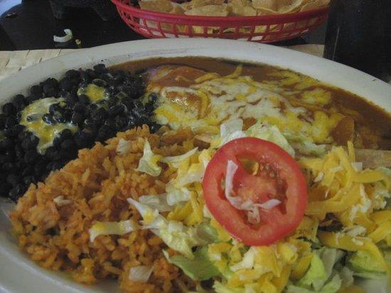 El Matador : Taco and Cheese Enchilada Combo