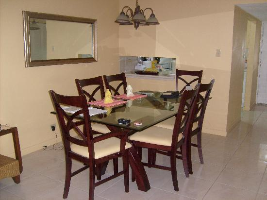Plantation Village Beach Resort: Unit 31 Dining Room (kitchen in background)