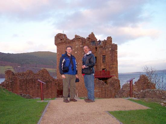Urquhart Castle: me and Rob