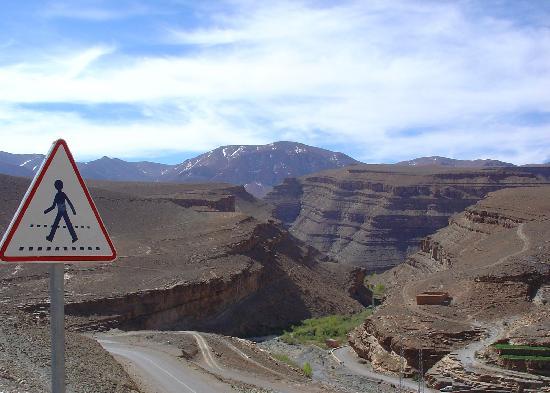 Dades Gorge: Ma dove sono i pedoni?..Oltre le Gole della Dadès, Marocco
