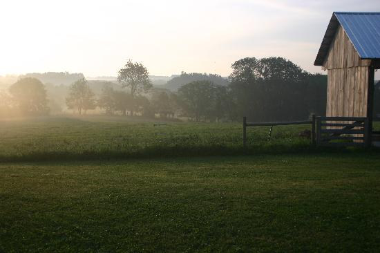 Stockholm, WI: The farm in the morning