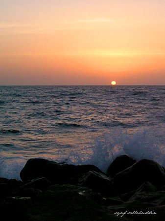 Jedda, Saudiarabien: Sunset, Red Sea