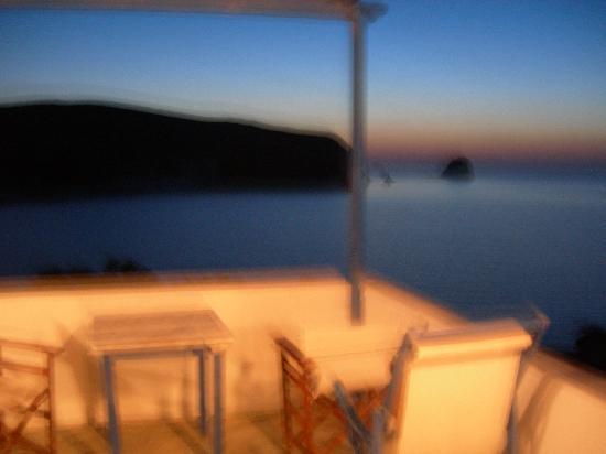 Andreas Rooms : vista dal balcone