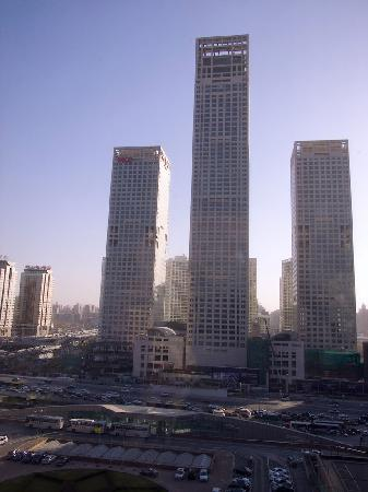 Shangri-La's China World Hotel : View from a room -- location's the only great thing about it.