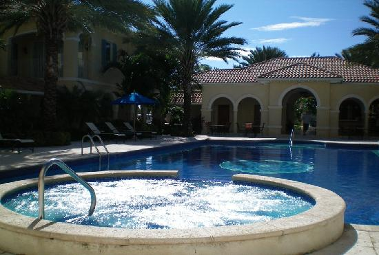 Villa Renaissance: Pool area; jacuzzi is not the same as a hot tub