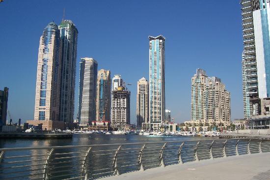 Jumeirah Public Beach: View of Dubai Marina.