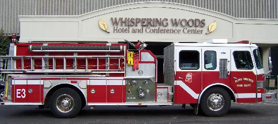 Whispering Woods Hotel & Conference Center: During the electrical fire.....