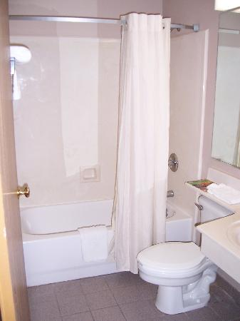 Budgetel Inn and Suites Mobile: Bathroom cleanliness average
