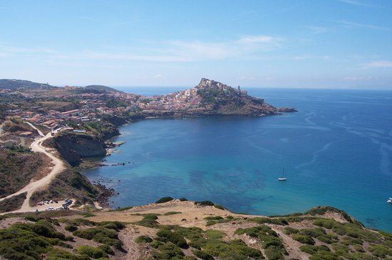 Sardinia, Italy: View from Baia Ostina at Castelsardo