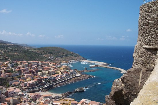 Sardinia, Italy: View from Castle to Castelsardo Port