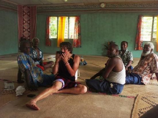 Mango Bay Resort Fiji: Me drinking kava in a traditional village
