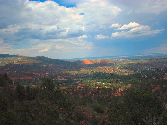 Colorado Springs, Kolorado: the view from the trail
