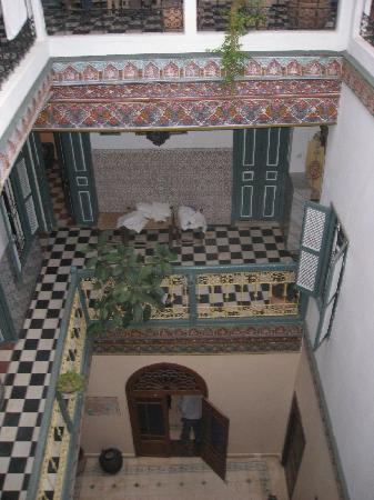 Riad Hotel Essaouira: view of hotel rooms from third floor