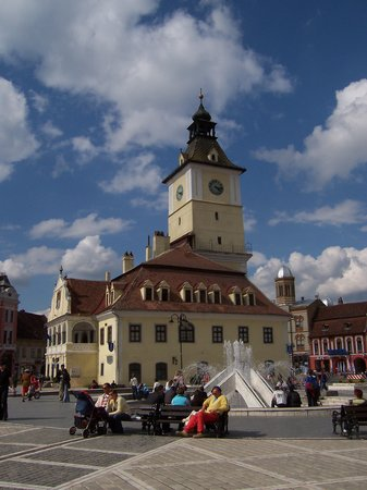 Brasov, Romania: Town hall and visitor's center