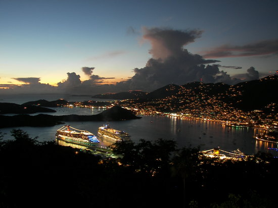Charlotte Amalie, St. Thomas: View from Paradise Point 1500 ft