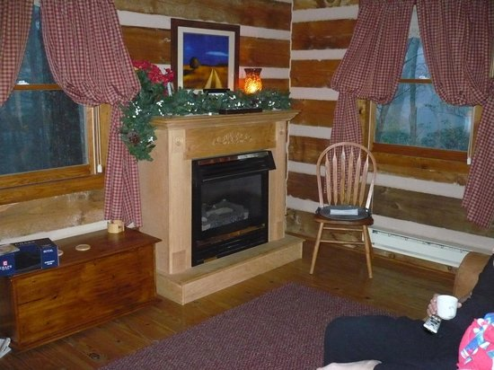 Inside the cabin.