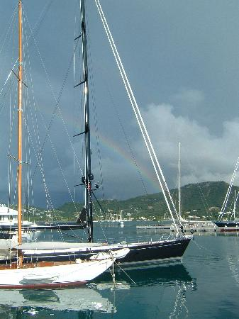 Antigua Yacht Club Marina Resort: View at breakfast