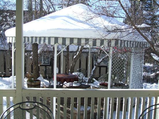 Inn at 410 Bed and Breakfast: garden in winter