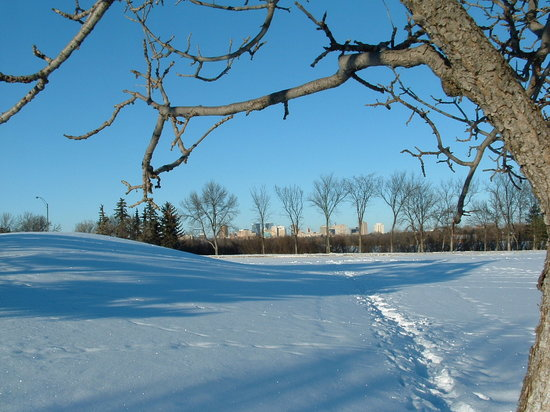 Regina, Kanada: The sky is nearly always blue and the sun shining